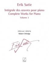 Satie Erik - Integrale Des Oeuvres Pour Piano Vol.3