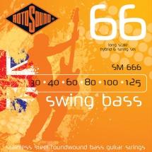 Rotosound Swing Bass Stainless Steel 6 Cordes Hybrid 30 40 60 80 100 125