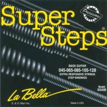 Labella 5 Cordes ? Super Steps Serie ? Stainless Steel Round Wound ? Medium ? 45/128