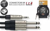 Stagg Nyc3/mps2pr Mini-jack Stereo - 2 Jack Mono 3 Metres