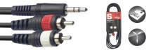 Stagg Cable Y Mini Jack/rca (m/m) 3 M