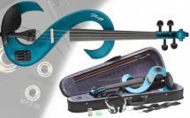 Stagg Set Violon Electrique Evn 4/4 Mbl - Bleu Metallise