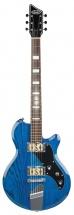 Supro Westbury Baritone Guitar Trans Blue