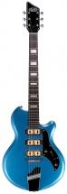 Supro Hampton Guitar Ocean Blue Metallic