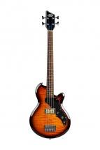 Supro Huntington 1 Bass W/piezo Tobacco Sunburst Flame