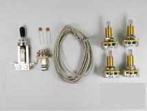Switchcraft Lp Wiring Kit (cts Lp Pots, Switchcraft Jackandswitch, Wire,etc)