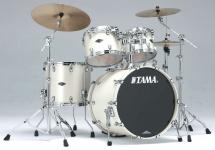 Tama Pp42s-spw - Starclassic Performer B/b 4 Futs 22/10/12/16 Sans Hardware Satin Pearl White