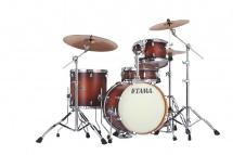 Tama Vp48s-abr - Silverstar Custom 4 Futs 18/12/14 Sans Hardware Antique Brown Burst