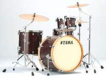 Tama Vp42vs-sdw - Silverstar Custom 4 Futs Sans Accessoires - Satin Dark Brown - Edition Limitee