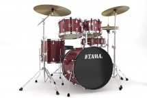 Tama Rm50yh6c-rds - Rhythm Mate 5 Futs 20/10/12/14 Avec Hardware Et Cymbales Red Stream