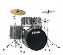 Tama Rm50yh6c-gxs - Rhythm Mate 5 Futs 20/10/12/14 Avec Hardware Et Cymbales Galaxy Silver