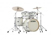 Tama Ck50rs-vws - Superstar Classic (unicolor Wrap) Maple 20/10/12/14/14x5 Vintage White Sparkle