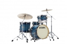 Tama Cl48s-bab - Superstar Classic Maple 18/12/14/14x5 Blue Lacquer Burst