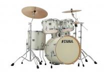 Tama Cl50rs-sap - Superstar Classic Maple 20/10/12/14/14x5 Satin Arctic Pearl