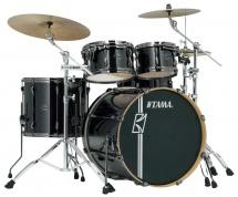 Tama Mk42hlzbns-bcb - Superstar Hyper-drive Maple 22/10/12/16 Brushed Charcoal Black