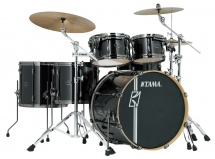Tama Mk52hlzbns-bcb - Superstar Hyper-drive Maple 22/10/12/14/16 Brushed Charcoal Black