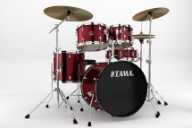 Tama Rm50yh6c-wr Kit Rhythm Mate 2014 Fusion 20 - 5 Fûts Avec Accessoires Et Cymbales - Wine Red