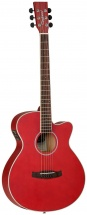 Tanglewood Discovery Super Folk Cw Dbt Sfce Rm Red