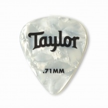Taylor Guitars Celluloid 351 Picks White Pearl 0.71mm 12-pack
