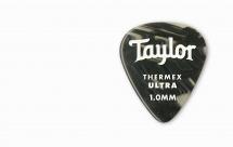 Taylor Guitars Premium 351 Thermex Ultra Picks Black Onyx 1.00mm 6-pack