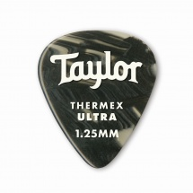 Taylor Guitars Premium 351 Thermex Ultra Picks Black Onyx 1.25mm 6-pack