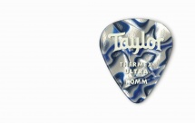 Taylor Guitars Premium 351 Thermex Ultra Picks Blue Swirl 1.00mm 6-pack