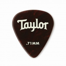 Taylor Guitars Celluloid 351 Picks Tortoise Shell 0.71mm 12-pack