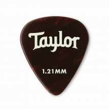Taylor Guitars Celluloid 351 Picks Tortoise Shell 1.21mm 12-pack