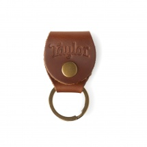 Taylor Guitars Key Ring W/pick Holder - Medium Brown Nubuck