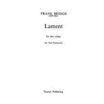 Bridge F. - Lament - 2 Violas