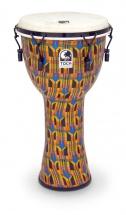 Toca Djembe Freestyle Mechanical Tuned Kente Cloth 9\