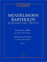 Mendelssohn Bartholdy F.- Konzert Fur Violine Und Orchester (zweite Fassung 1845) E-moll Op. 64