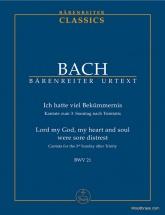Bach J.s - Ich Hatte Viel Bekummernis Bwv 21 - Conducteur Poche