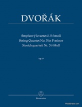 Dvorak A. - String Quartet Op.9 N°5 In F Minor