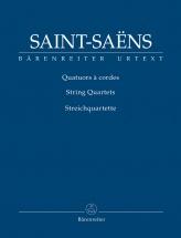 Saint-saens Camille - Quatuors A Cordes - Score