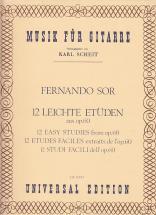 Sor Fernando - 12 Leichte Etüden Aus Op.60