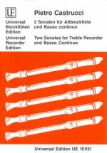 Castrucci P. - 2 Sonaten Op. 1 /5-6 - Flb Alto Et Bc