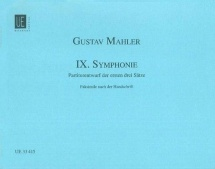 Mahler Gustav - Symphonie N°9 - Score Facsimile Du Manuscrit