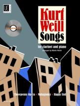 Weill Kurt - Songs With Cd - Clarinette Et Piano