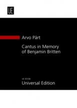 Pärt A. - Cantus In Memory Of Benjamin Britten - Conducteur
