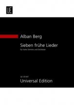 Berg A. - Sieben Frühe Lieder Für Hohe Stimme Und Orchester -  Conducteur