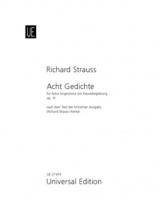 Strauss Richard - 8 Gedichte Op.10 - Voix Haute and Piano