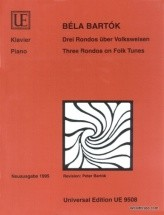 Bartok B. - 3 Rondos On Folk Tunes - Piano