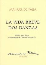Manuel De Falla La Vida Breve Dos Danzas - Piano Duet