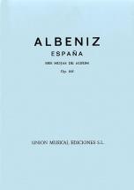 Albeniz - Espana Op.165 Seis Hojas De Album Complete - Piano Solo
