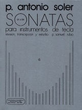 Antonio Soler Sonatas Volume Six - Piano Solo