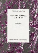 Federico Mompou Cancion Y Danza I, Ii, Iii, Iv - Piano Solo