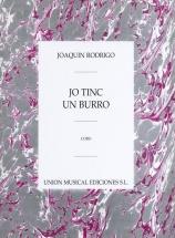 Rodrigo - Yo Tinc Un Burro Para Coro - Choral