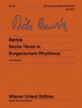 Bartok Bela - Six Dances In Bulgarian Rhythm - Piano