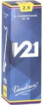 Vandoren Boite De 5 Anches - Clarinette Basse - V21 2.5